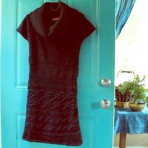 Black Cowl Neck Sweater Dress